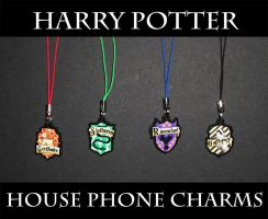Harry Potter House Phone Charm by AriesNamarie