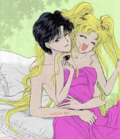 Usagi and Mamoru by EmberAsylum
