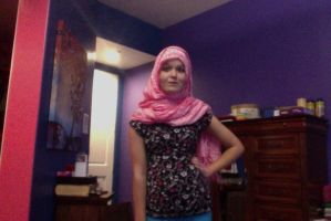 Me With a Pink Hijab by SuperiLoveCartoons