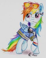 Rainbow dash always dresses in style by Moonlight-Ki
