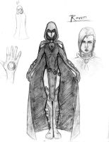 My Raven suit design by kanefinger1939