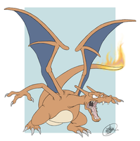 POKEDDEX DAY 21: Charizard by SharpDressedReptile