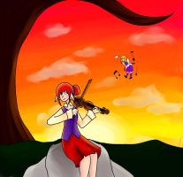 Sunset Violins by sconesandpancakes