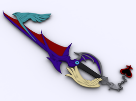 Rikus Keyblade Way of the Dawn by Byakushi-kun