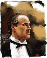 Don Vito Corleone speedpaint by inkfloyd