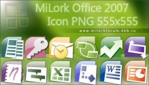 Milork Office 2007 Icon PNG by MiLork
