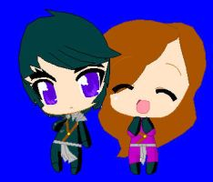 nickey and cole chibi love :request: by sammiethehedgehog13