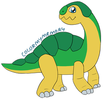 Commission: MCsaurus Dinkmon by colormymemory