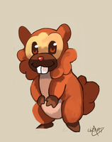 Bidoof by LizardonEievui13
