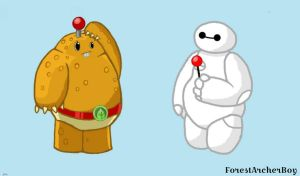 Spudow and Baymax  by ForestArcherBoy