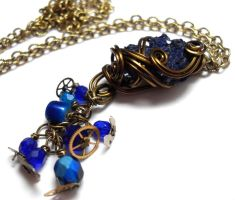 Space and Time Necklace no. 2 by sojourncuriosities