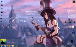 Rainmeter - Caitlyn by lovervenom