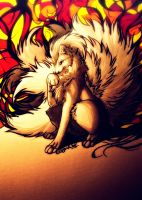 Ninetales.:.Glow Fire by WhiteSpiritWolf