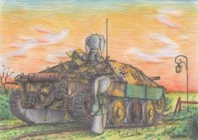 Hetzer  Tank destroyer by Patoriotto