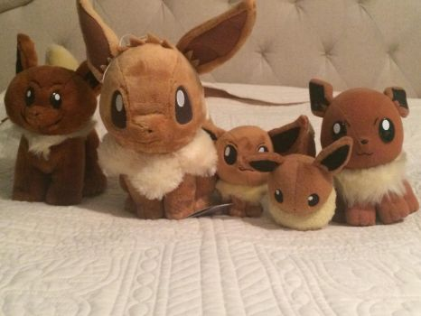 my collection of eevees by peridot894