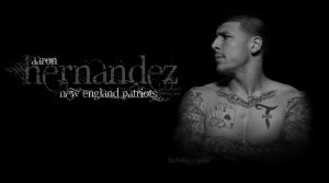 Aaron Hernandez Black And White Backgrounc by FBGNEP