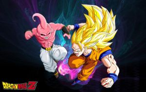 Dragon Ball Z Goku ssj 3 vs Majin Buu by Wilson-Adrian