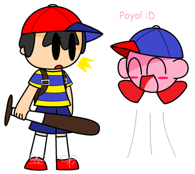 Request: Kirby and Ness by PUECA648000
