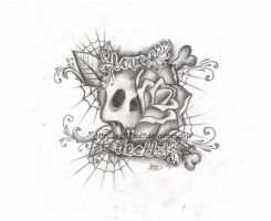 Love Death tattoo design by Metalhead99
