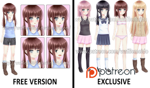 FREE VISUAL NOVEL SPRITE by WaffleMeido