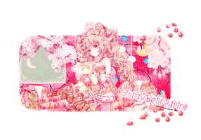 Linji Design #63: Strawberry Pink by linjidarling
