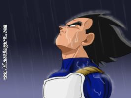 Vegeta in the Rain v.2 by carapau