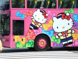 Hello kitty bus by wildwolves
