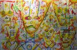 Tic Tac Toe yellow red by jedsart