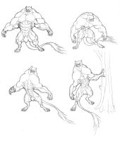 144 werebeast forms by krigg