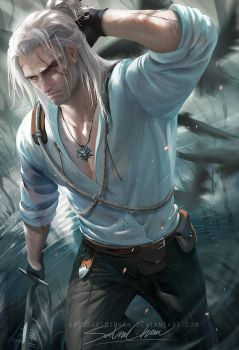 Geralt .nsfw optional. by sakimichan