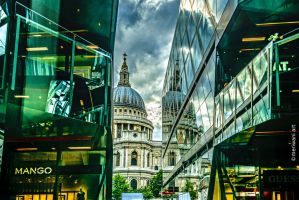 Reflected St Paul's 061437 by meriwani