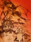 I am FIRE (Smaug pencil sketch) by TixieLix