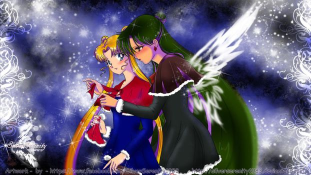 Setsuna and Usagi Christmas by SilverSerenity1983