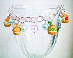 Cream Puff Pastry Bracelet by bobbin4apples