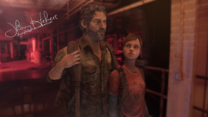 Ellie and Joel - The Last of Us by JhonyHebert