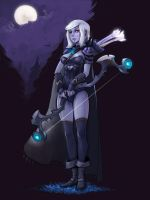 Drow Ranger teenager! by Rufflovin