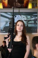 Girl with M4 Assault Rifle by intelxtreme