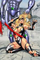 Down And Out 4: Ms. Marvel by andrewr255