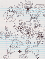 Awesome Mario Doodles by JamesmanTheRegenold