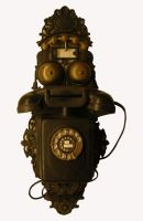 Roxstock_old telephone device by RoxStock