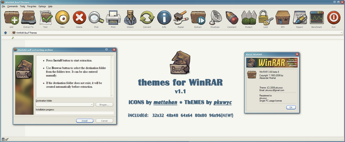 Buuf theme for WinRAR by pkuwyc