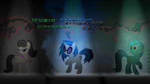 Pony Music Team Wallpaper by KeyPony by eryk955