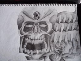 Skull Tattoo Design (2) by AdamCareless