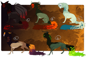 Halloween Themed Hound Adopts CLOSED by KellzFire