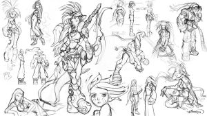 Sketch dump of an old project called Bid for Power by RodneyOlmos
