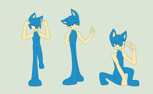 Sonic Base 35~Male Poses 1~ by Xbox-DS-Gameboy