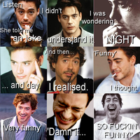 Robert Downey Jr. and a joke. by DadaJaMajka