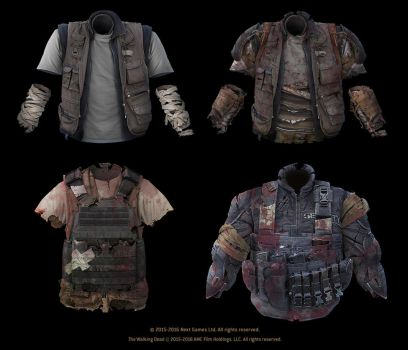 The Walking Dead - No Man's Land (armors) by StMan