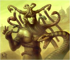 The Snake Queen of Sithus-Taih by davidmichaelwright