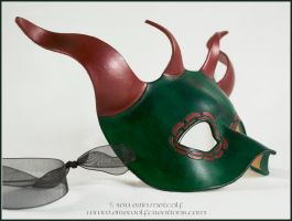4-Horned Green Dragon mask by EirewolfCreations